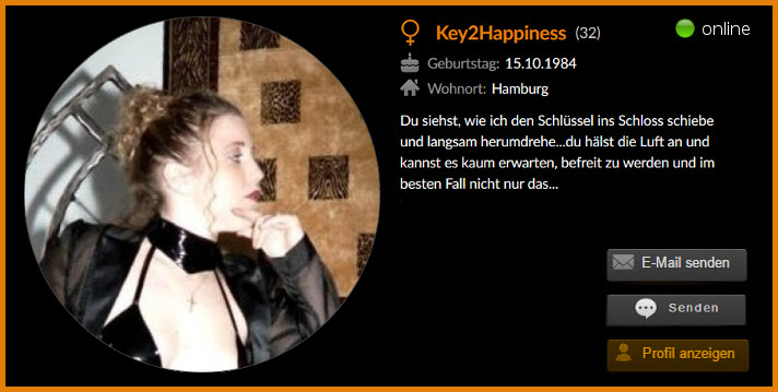 Unsere Userin Key2Happiness